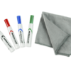 starter kit - whiteboard dry erase markers and cleaning cloth