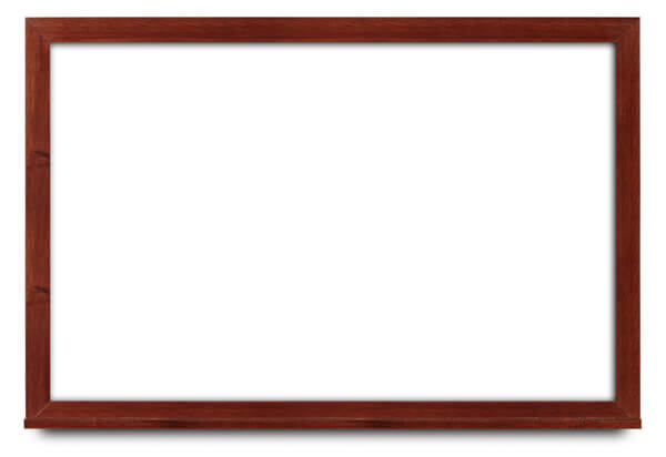 whiteboard, wide mahogany frame