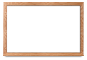 marker board with wide oak frame
