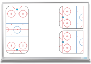 hockey ice rink coaching whiteboard - 4x6 frame