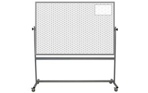portable whiteboard with 2-inch ghost isometric grid printed on both sides, 48x72 inch surfaces