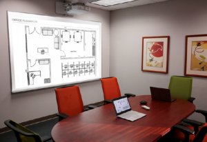 conference room projection whiteboard